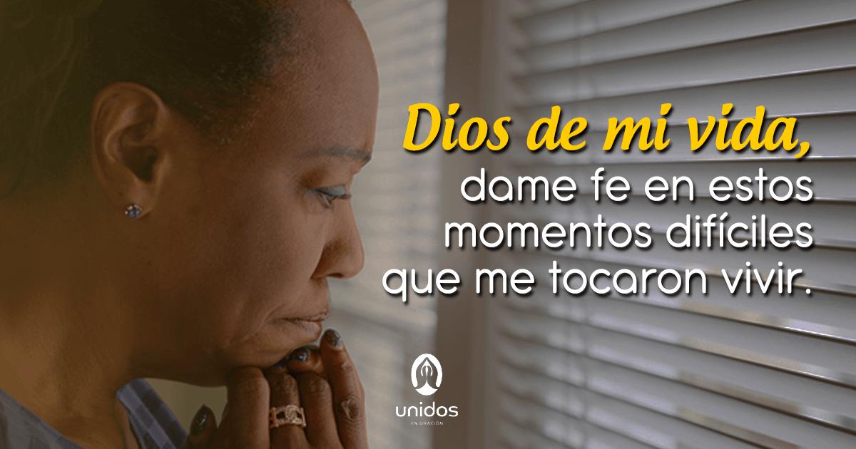 Oración de fe en momentos de dificultad