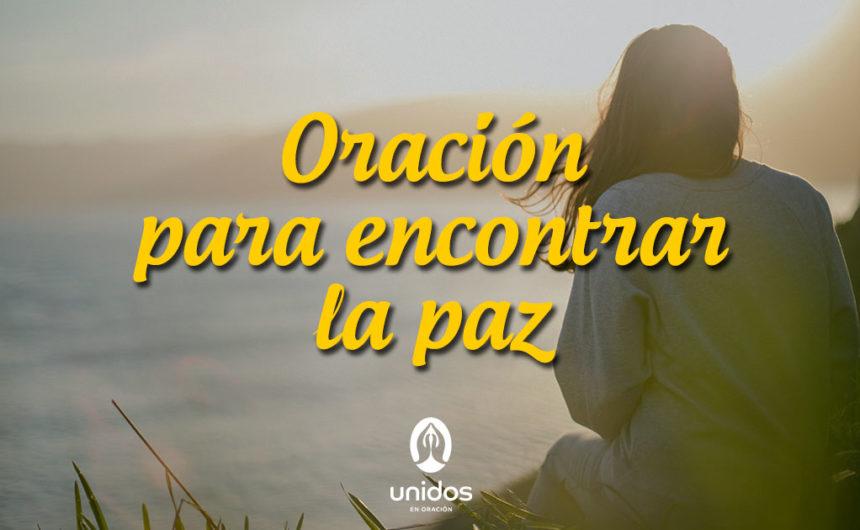 Oración para encontrar la paz