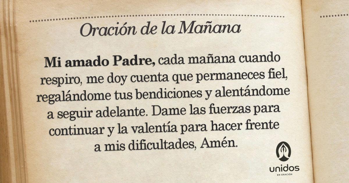 Oración De La Mañana Para El 5 De Enero