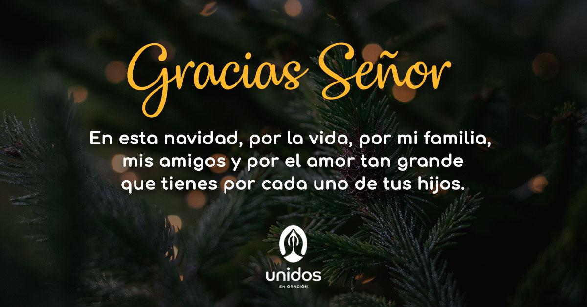 Oración de acción de gracias para Navidad