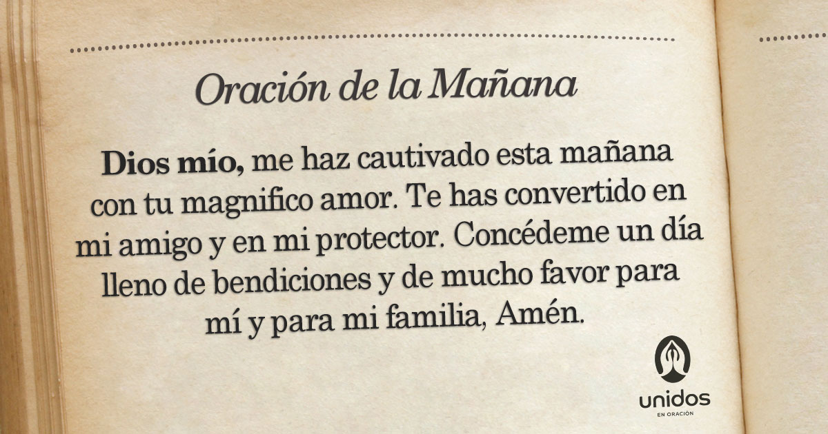 Oración de la mañana para el 30 de Enero