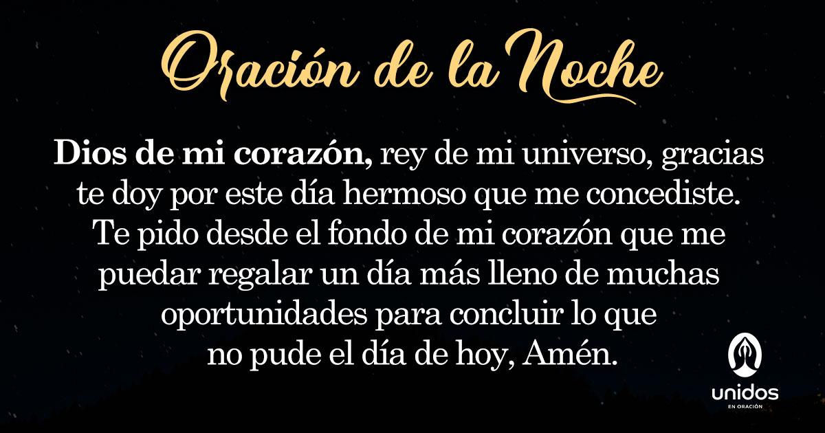 Oración de la noche para el 13 de Enero