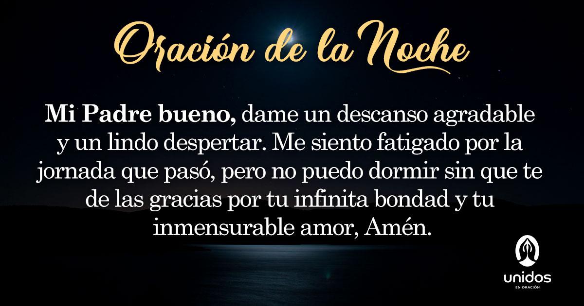 Oración de la noche para el 15 de Enero