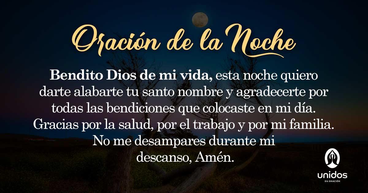 Oración de la noche para el 26 de Febrero