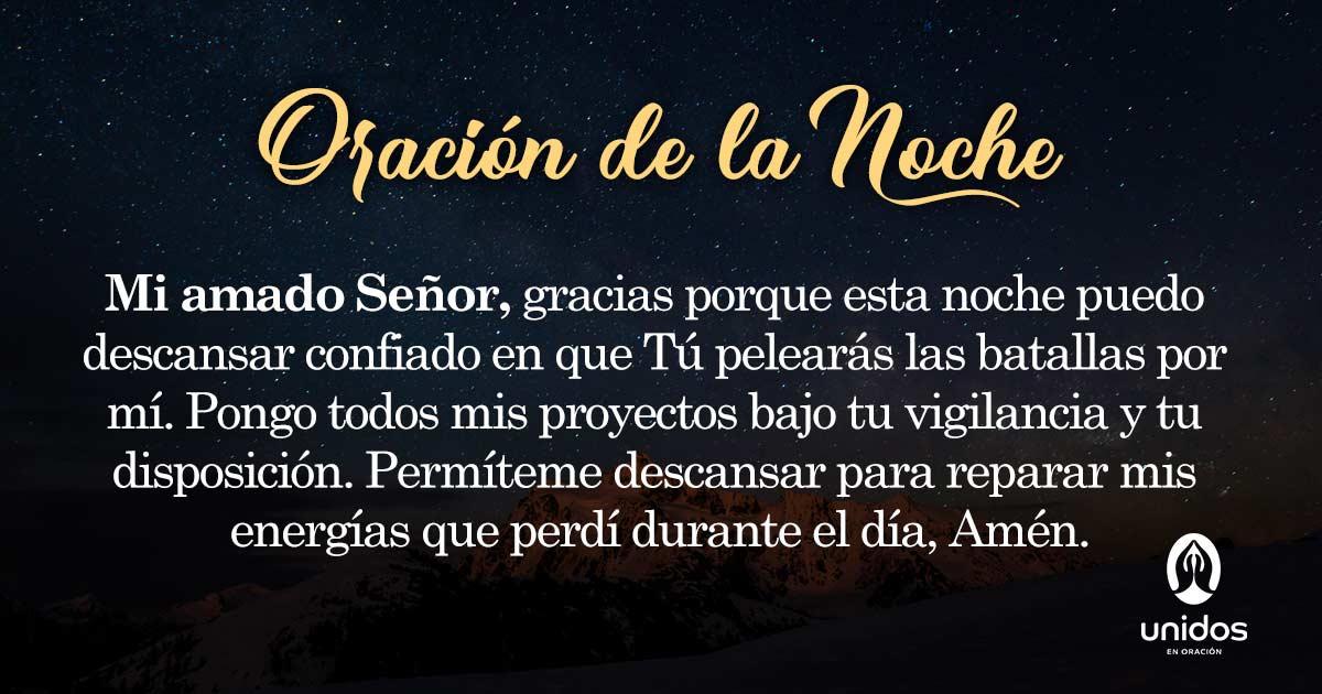 Oración de la noche para el 28 de Febrero