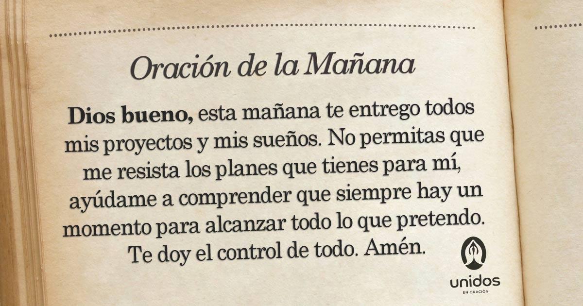 Oración de la mañana para el 05 de Marzo