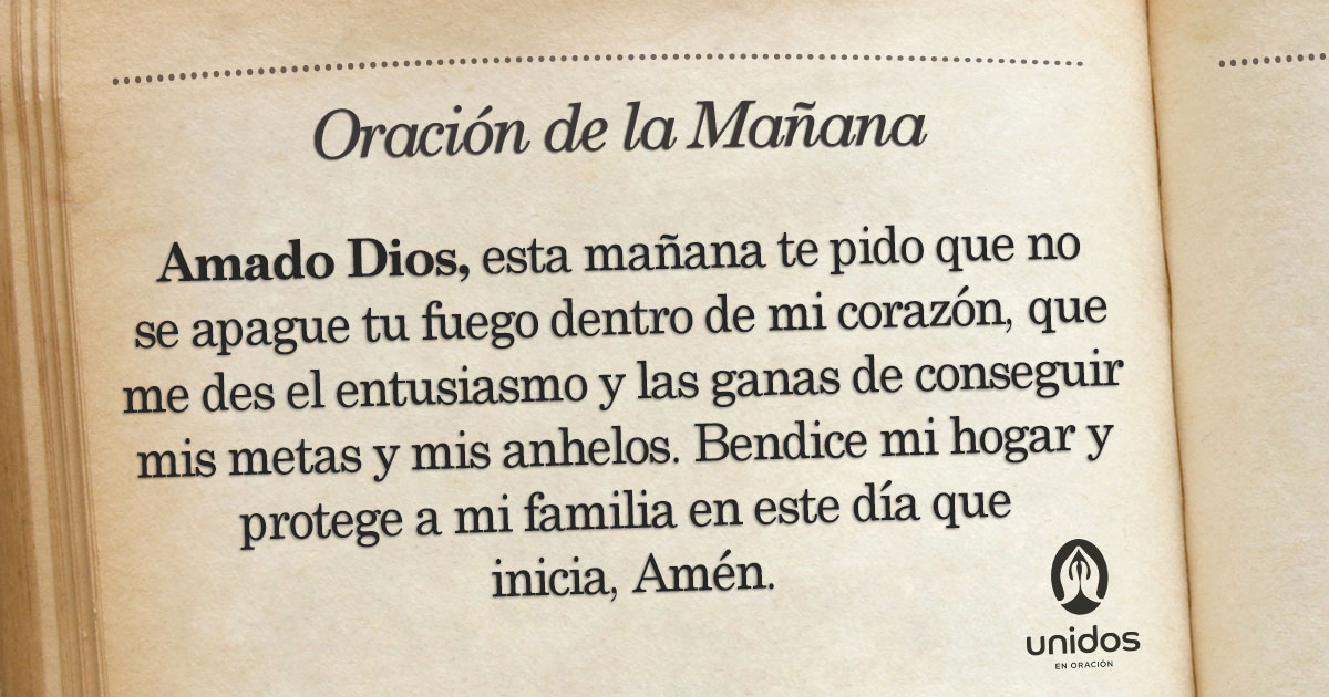Oración de la mañana para el 4 de Mayo