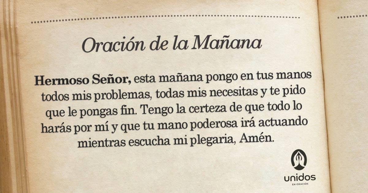 Oración de la mañana para el 10 de Junio