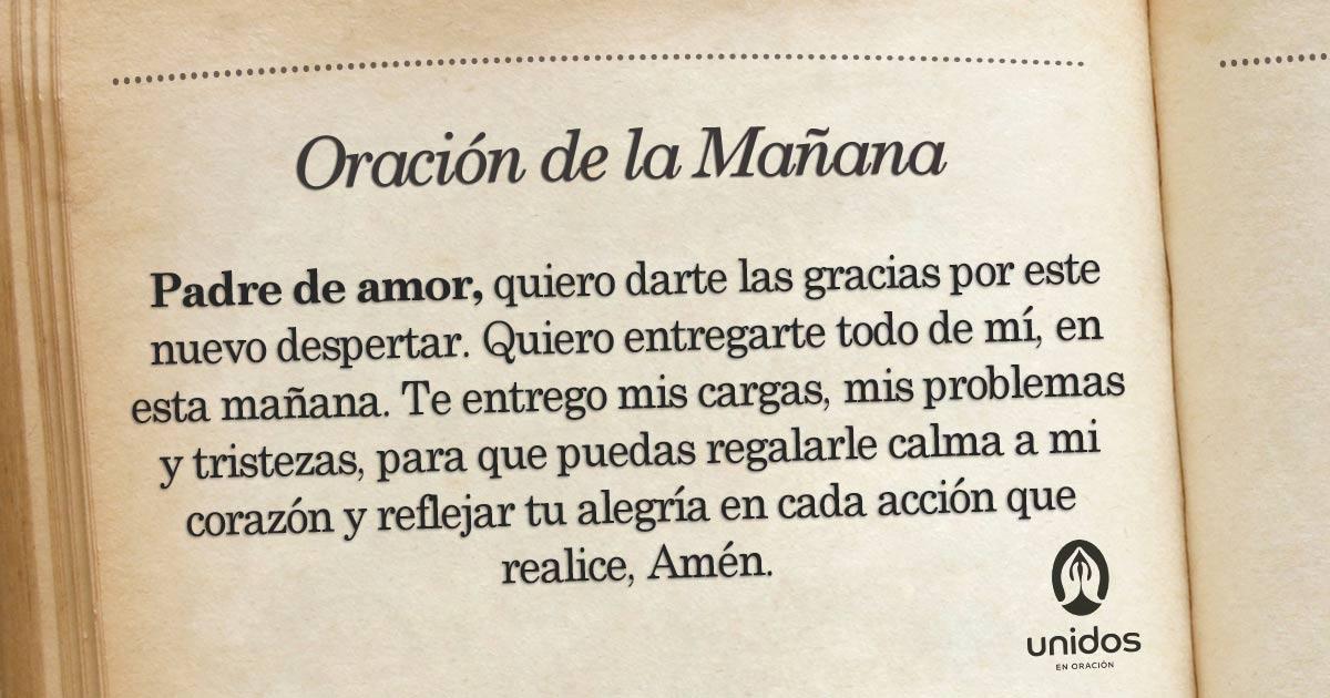 Oración de la mañana para el 12 de Junio