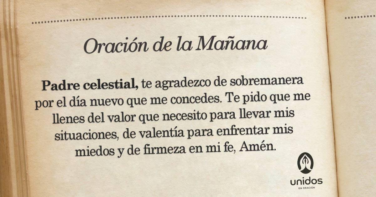 Oración de la mañana para el 27 de Mayo