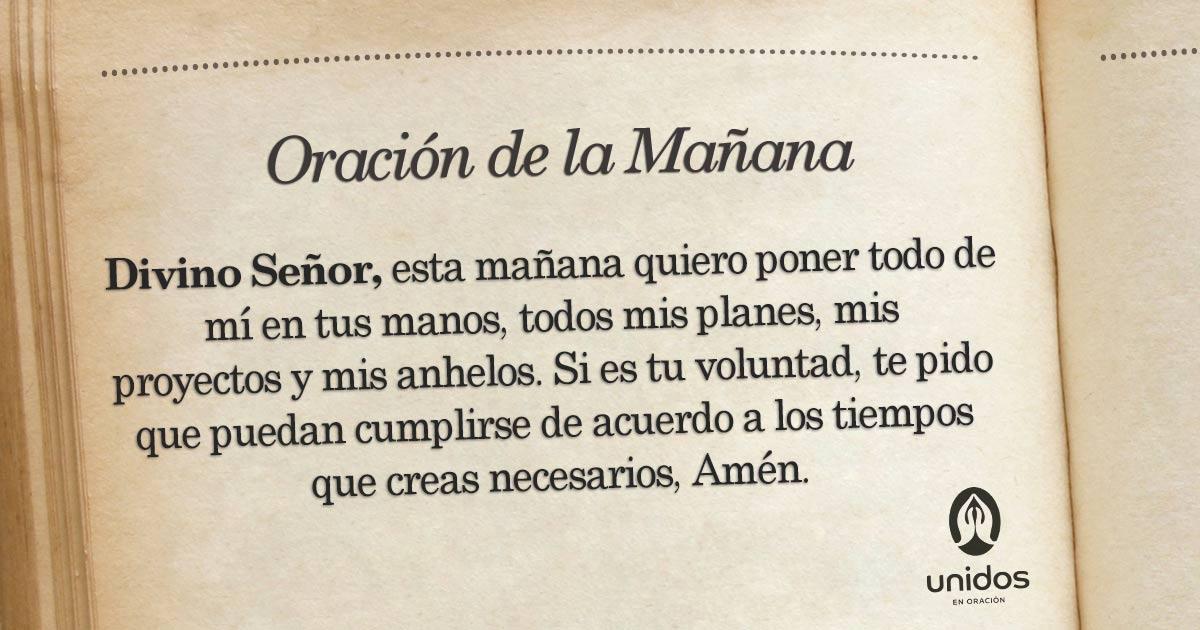 Oración de la mañana para el 28 de Mayo