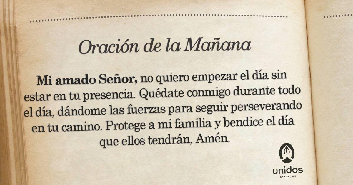 Oración de la mañana para el 29 de Mayo