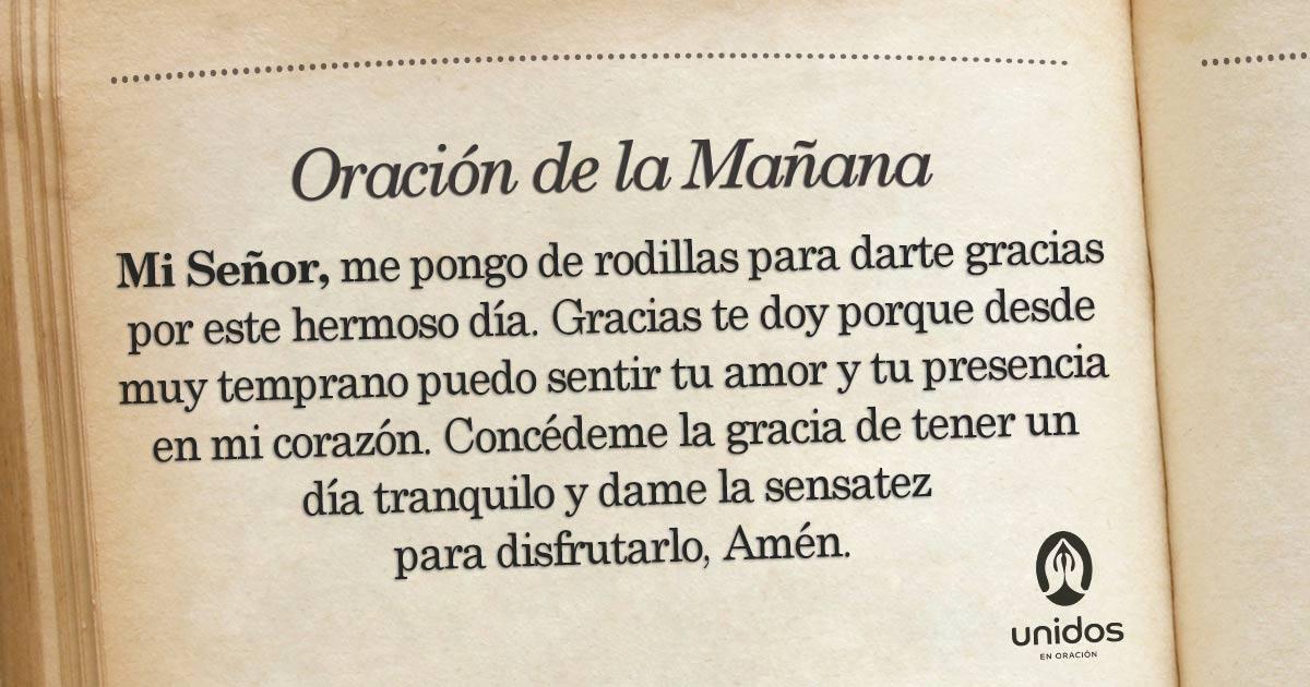 Oración de la mañana para el 30 de Mayo