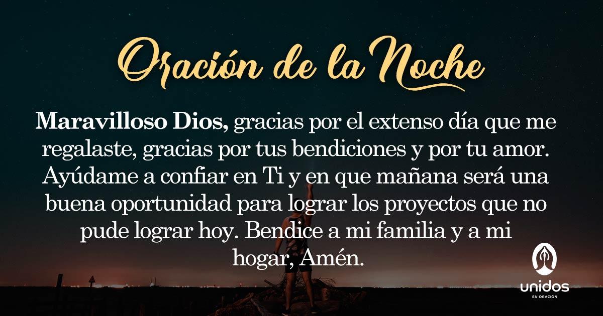 Oración de la noche para el 09 de Junio