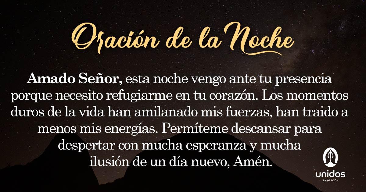 Oración de la noche para el 12 de Junio