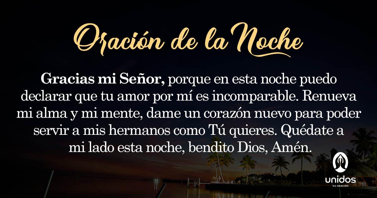 Oración de la noche para el 14 de Mayo