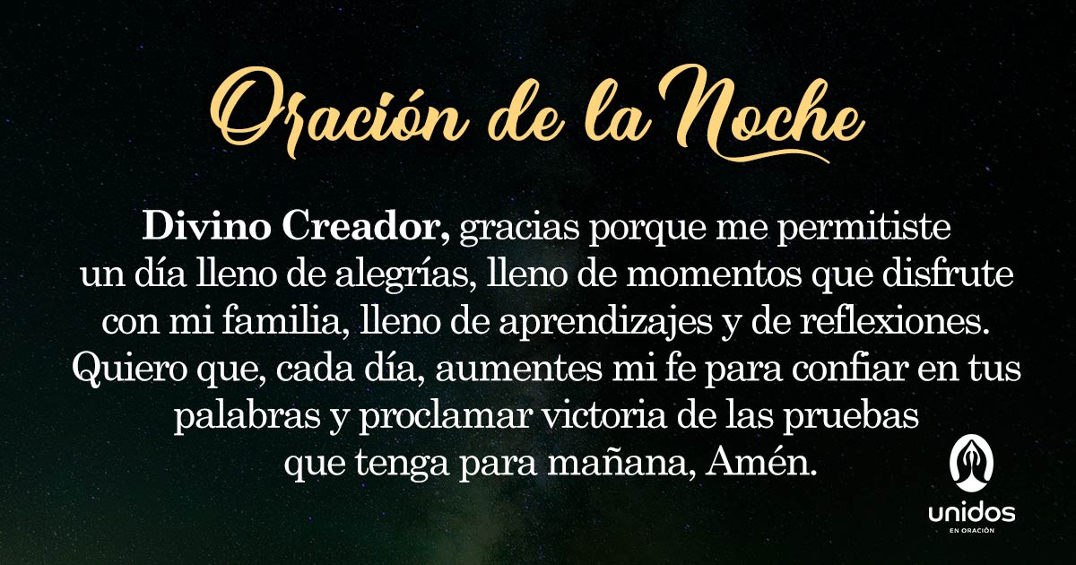 Oración de la noche para 19 de Abril