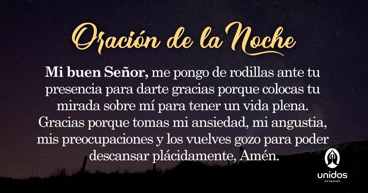 Oración de la noche para el 27 de Mayo
