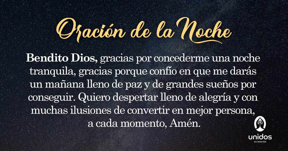 Oración de la noche para el 30 de Mayo