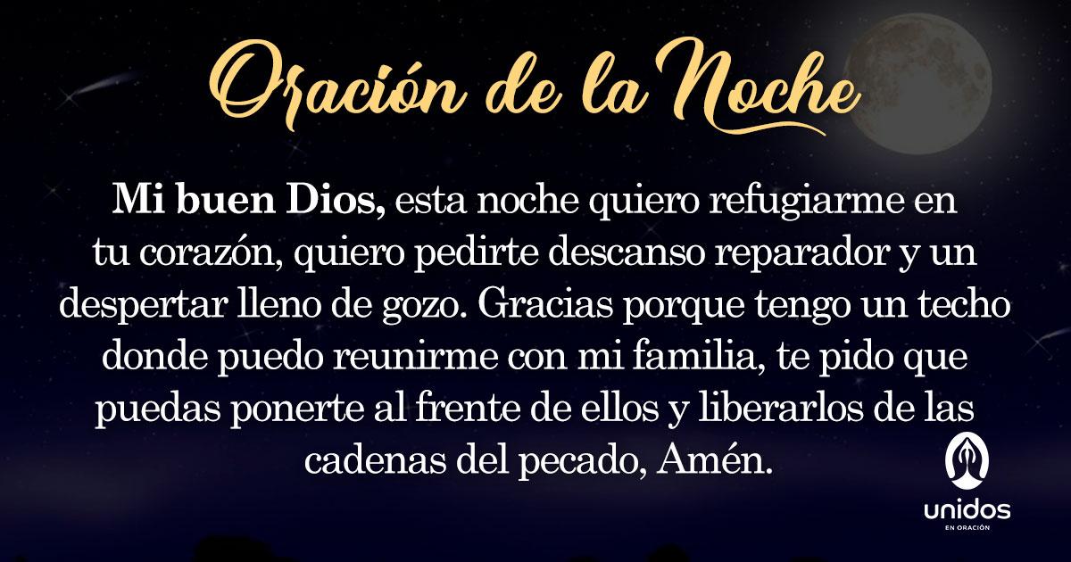 Oración de la noche para el 27 de Julio