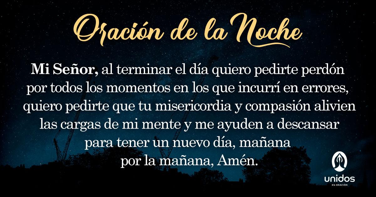 Oración de la noche para el 31 de Julio