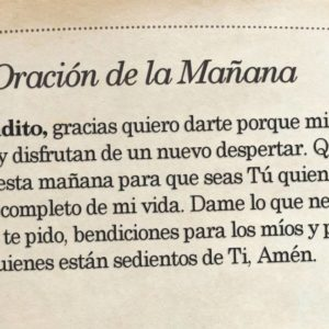 Oración de la mañana para el 5 de Julio