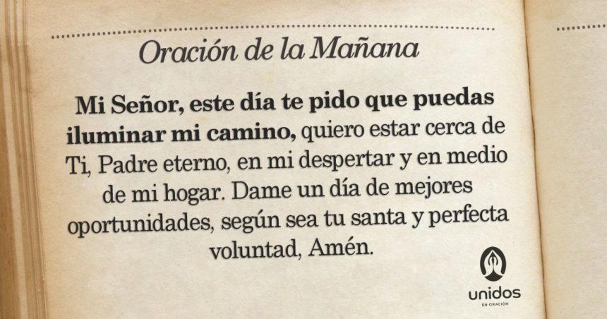 Oración de la mañana para el 7 de Agosto