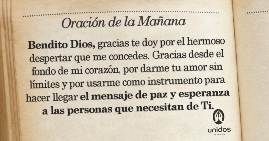 Oración de la mañana para el 11 de Agosto