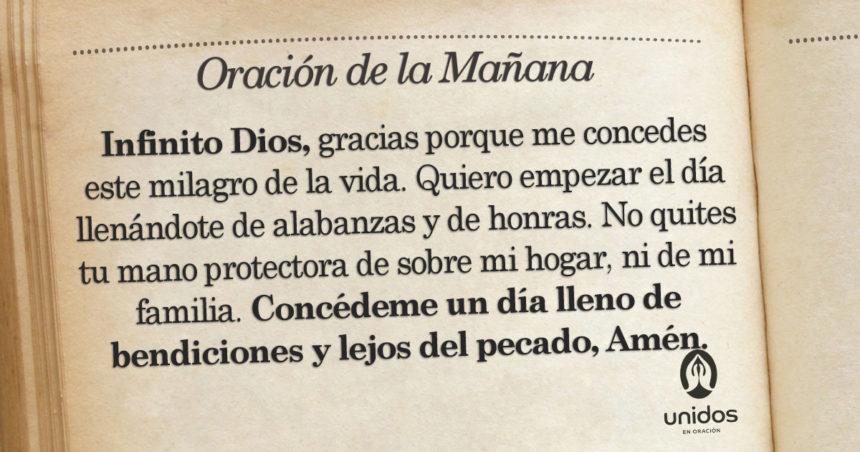 Oración de la mañana para el 13 de Agosto