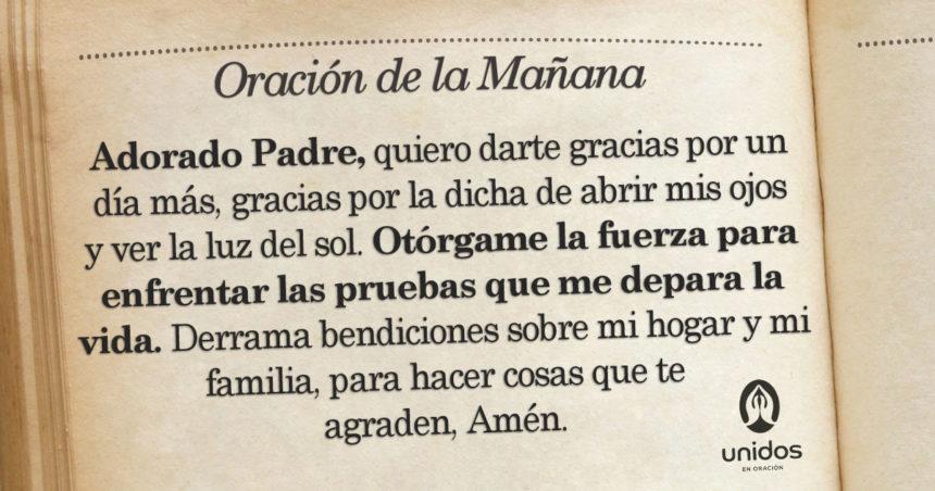 Oración de la mañana para el 14 de Agosto