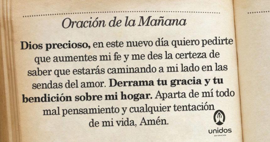 Oración de la mañana para el 15 de Agosto