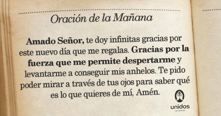 Oración de la mañana para el 16 de Agosto