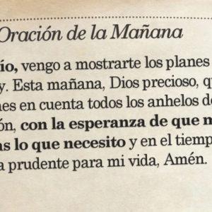 Oración de la mañana para el 21 de Agosto