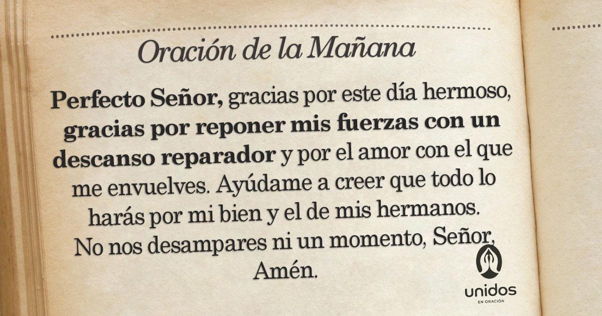 Oración de la mañana para el 22 de Agosto