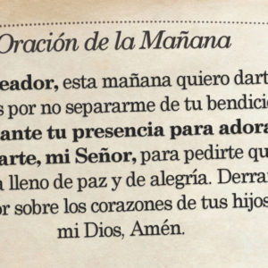Oración de la mañana para el 23 de Agosto
