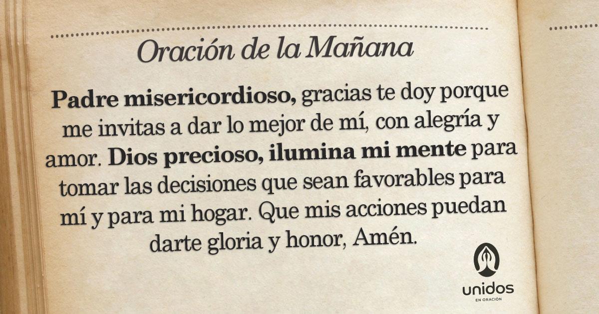 Oración de la mañana para el 25 de Agosto