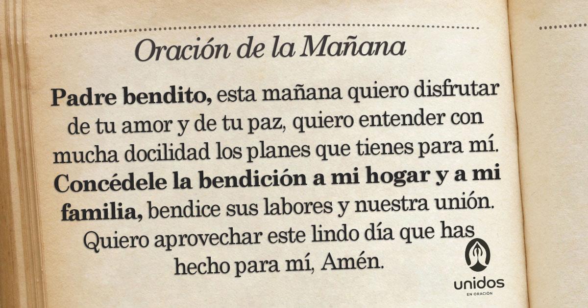 Oración de la mañana para el 26 de Agosto