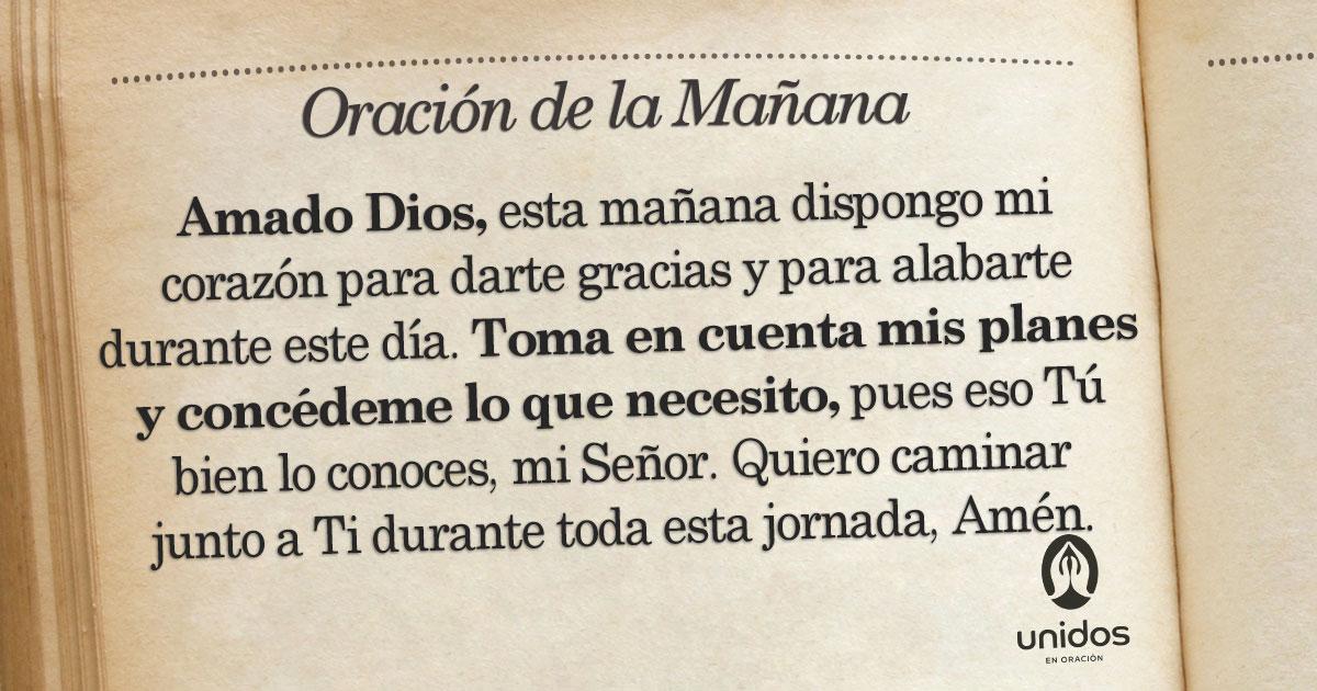 Oración de la mañana para el 27 de Agosto