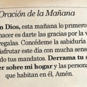 Oración de la mañana para el 28 de Agosto