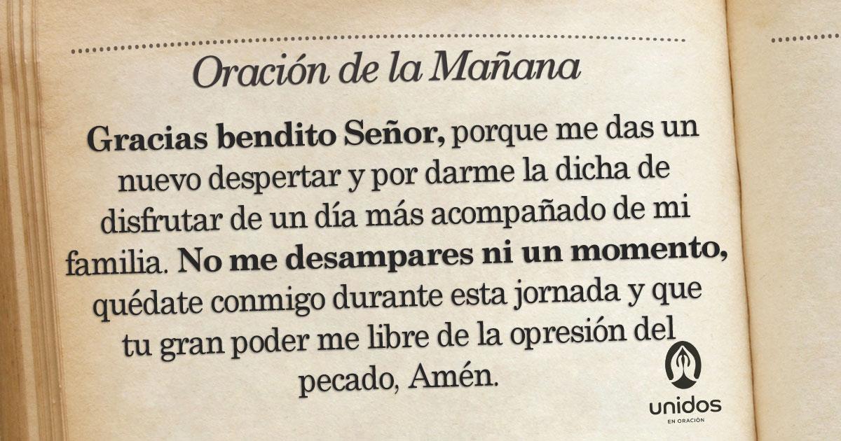 Oración de la mañana para el 29 de Agosto