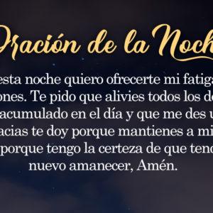Oración de la noche para el 22 de Agosto