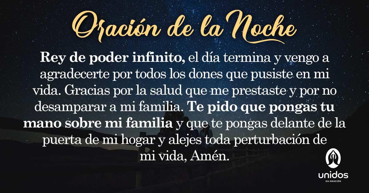 Oración de la noche para el 23 de Agosto