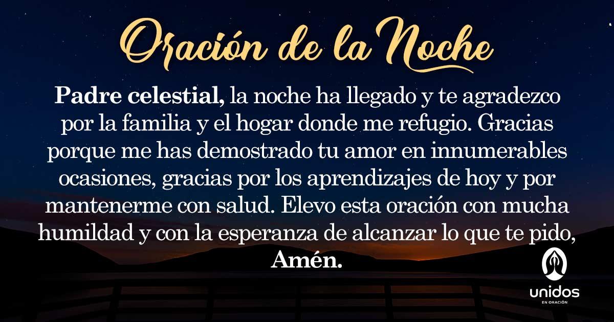 Oración de la noche para el 24 de Agosto