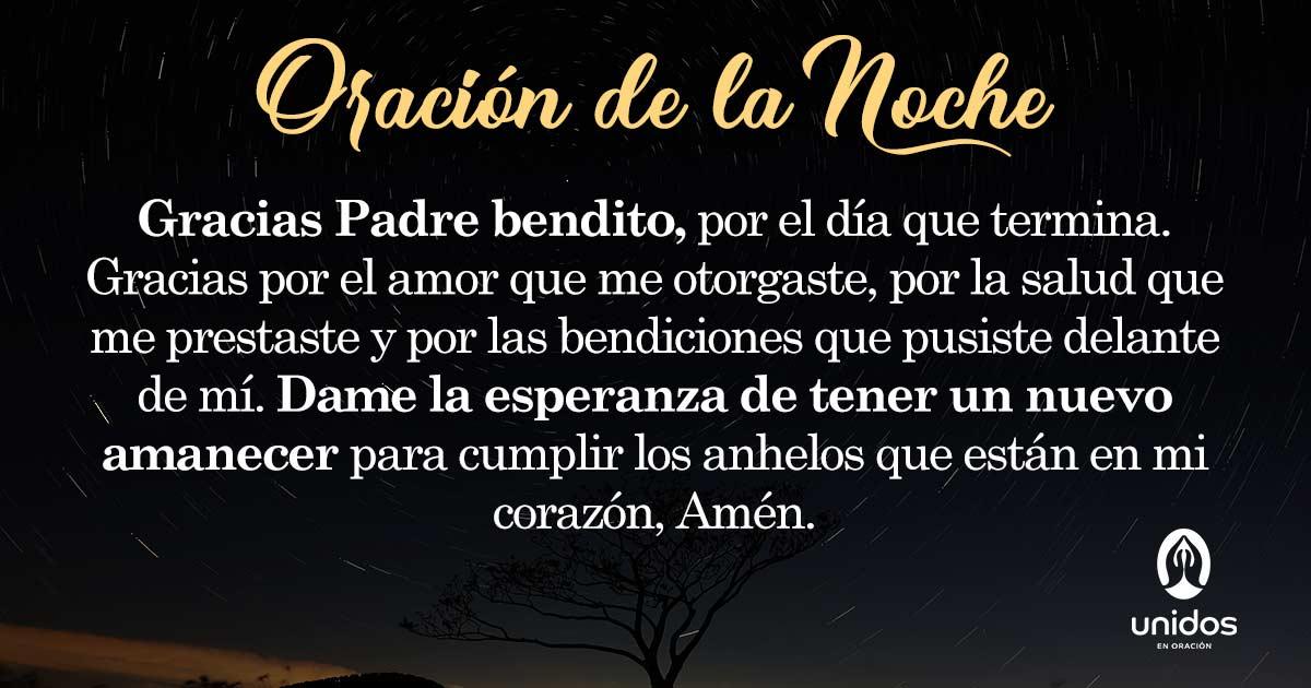 Oración de la noche para el 25 de Agosto