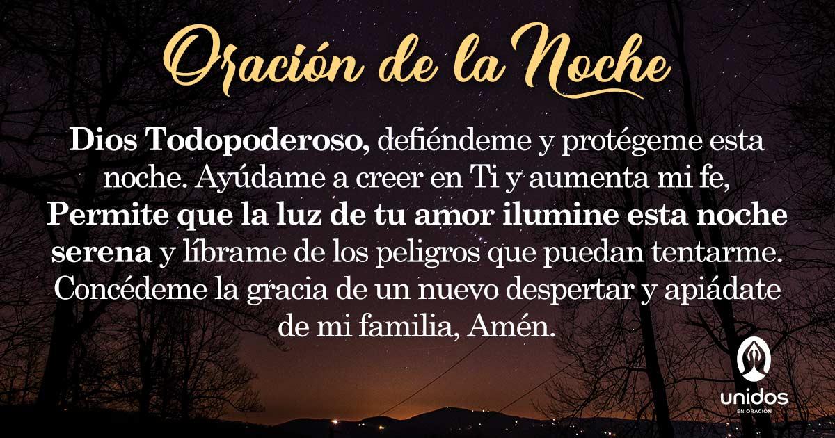 Oración de la noche para el 28 de Agosto