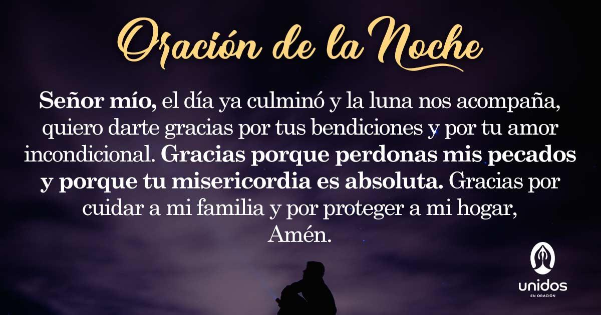 Oración de la noche para el 29 de Agosto