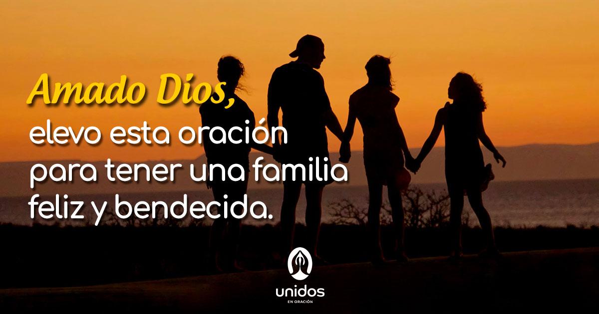 Oración para tener una familia feliz