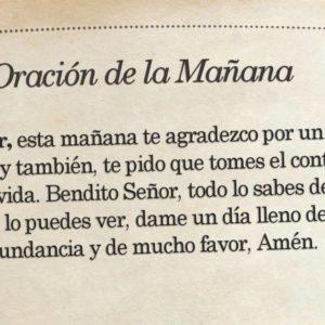 Oración de la mañana para el 3 de Septiembre