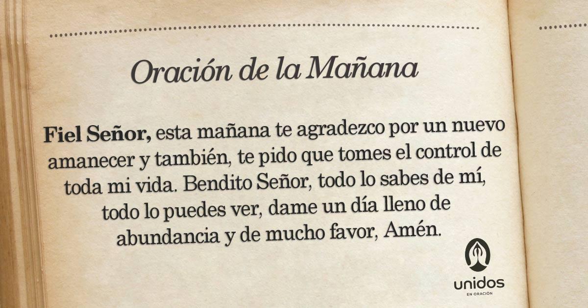 Oración de la mañana para el 03 de Septiembre