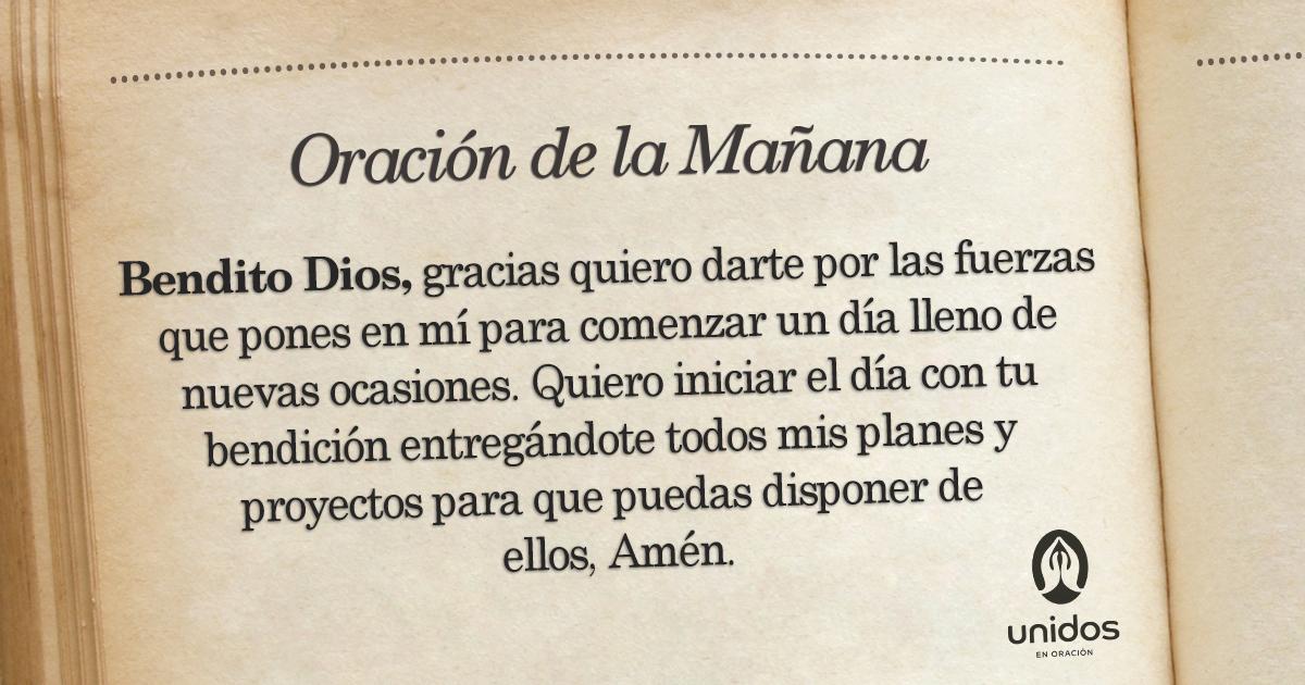 Oración de la mañana para el 29 de Junio
